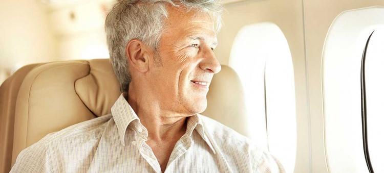 Airplane passenger